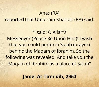 Hadith about Maqam e Ibrahim
